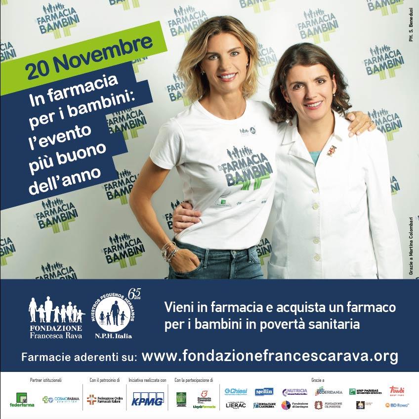 20 Novembre | In farmacia per i bambini: l'evento più buono dell'anno